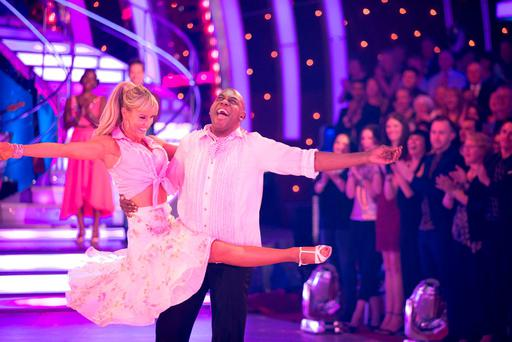 Ainsley Harriott and Natalie Lowe during their final dance