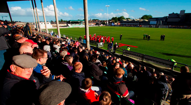 Shamrock Rovers manager Pat Fenlon was impressed by the facilities at Markets Field in Limerick