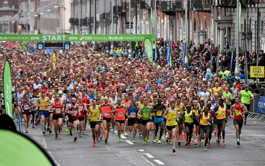 A number of roads will be closed to facilitate the Dublin Marathon today