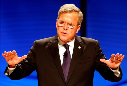 Republican hopeful Jeb Bush