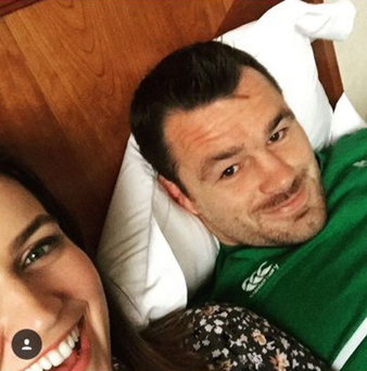 Cian Healy and Laura Smith