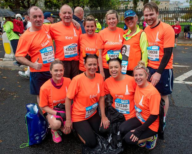 Monday 26 October 2015. Dublin City Marathon runners: Kev's Team that trains in the Phoenix Park.