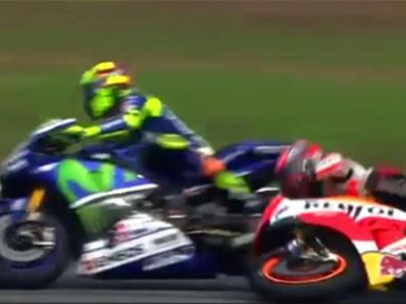 Valentino Rossi was guilty of kicking Marc Marquez from his bike