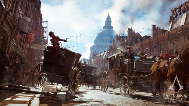Assassin's Creed Syndicate: The horse carriages give the Frye twins a quick way to travel around London