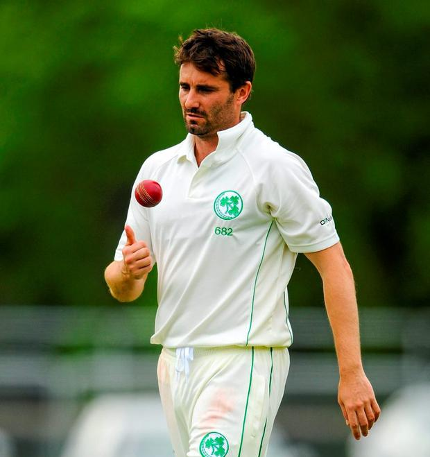 Ireland's Tim Murtagh took four wickets in their clash against Namibia