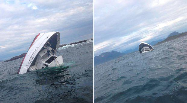 The MV Leviathan ll sinking off Vancouver Island Photo: Albert Titian