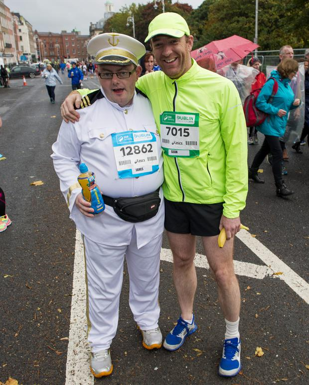 Monday 26 October 2015. Dublin City Marathon runners: James Lannigan, Waterford City and Sean McGurk, Tyrone.