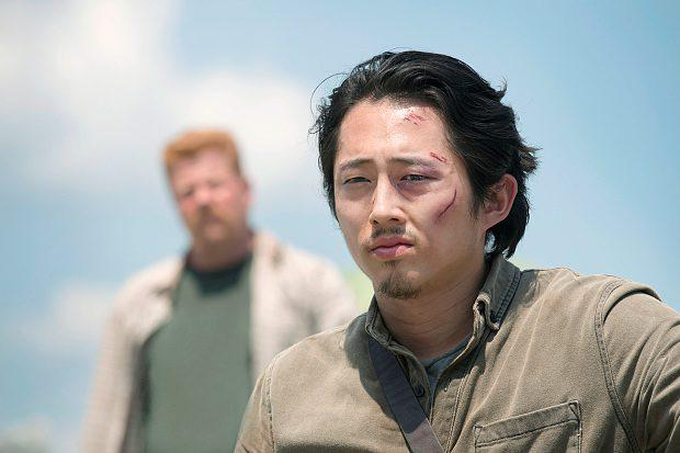 THE WALKING DEAD SEASON 6 SERIES 6 FOX HANDOUT ... Steven Yeun as Glenn Rhee - The Walking Dead _ Season 6, Episode 1 - Photo Credit: Gene Page/AMC