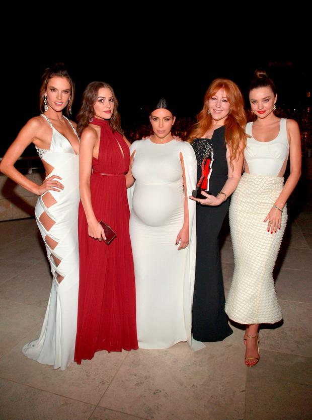 LOS ANGELES, CA - OCTOBER 26: (L-R) Models Alessandra Ambrosio, Olivia Culpo, tv personality Kim Kardashian West, honoree Charlotte Tilbury and model Miranda Kerr attend the InStyle Awards at Getty Center on October 26, 2015 in Los Angeles, California. (Photo by Charley Gallay/Getty Images for InStyle)