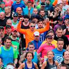 Runners at the start of the 36th Dublin City marathon in 2015