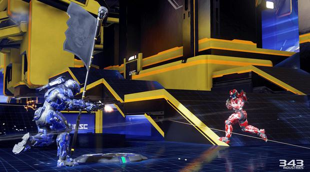 Halo 5 - The Breakout mode in the Arena is 5-v-5 capture the flag where each player only has one life. Caution advised.