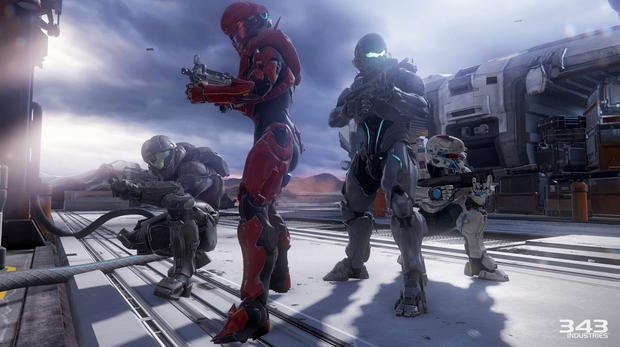 Halo 5 - Fireteam Osiris in full pose mode. Throughout the game we get to learn more about each spartan.