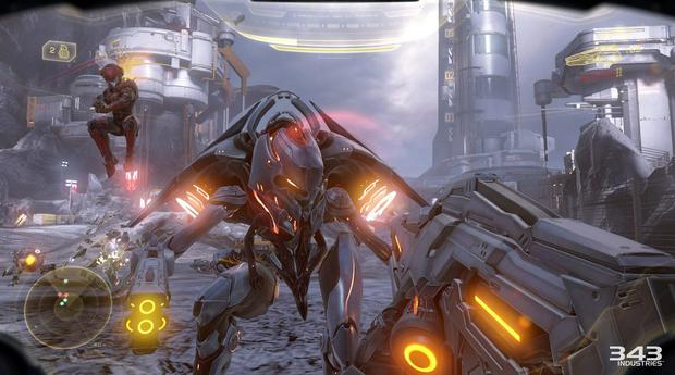 Halo 5 - Up close with our Promethean friend