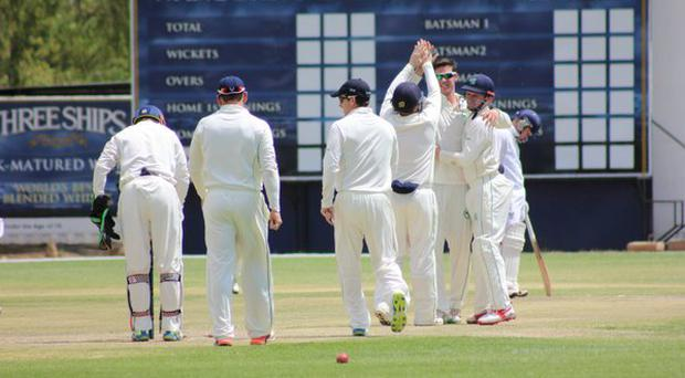 Ireland players celbrate victory over Namibia. Pic credit: Twitter - @Irelandcricket