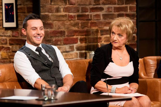 Nathan Carter and Philomena Begley on The Late Late Show