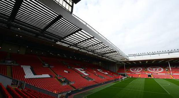Liverpool's Anfield stadium has been evacuated as a precaution after an