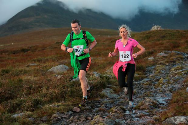 Marco Petrossi and Paula Cronin, on Strickeen Mountain,competing in The Helly Hensen Killarney Adventure Race, took place at the weekend in Killarney National Park, over 1800 athletes competed in the gruelling multi-activity race with three categories, 69km, 59km and 27km, including, mountain runs on Strickeen Mountain, Mangerton and Torc Mountains, cycling through the Gap of Dunloe, Black Valley, Molls Gap, kayaking on Muckross Lake and cycling though the oakwoods of Muckross Peninsula, finishing at The Gleneagle Hotel, Killarney.Photo:Valerie O'Sullivan/NO REPRO FEE/issed 06-10-2013