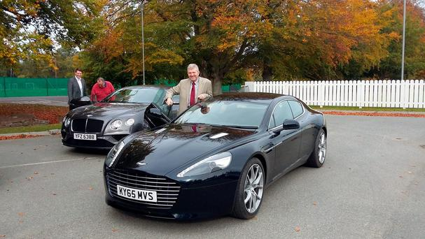 Eddie Cunningham with the Aston Martin Rapide S.