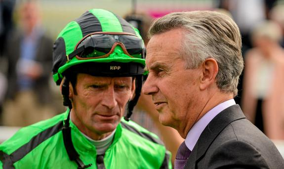 Trainer Jim Bolger with Kevin Manning