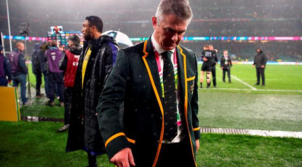 Heyneke Meyer has stood down from his role with South Africa