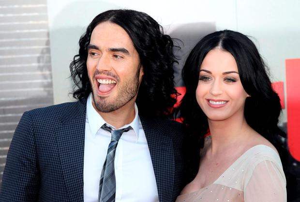 ONDON, ENGLAND - APRIL 19: Russell Brand and Katy Perry attend the European Premiere of Arthur at Cineworld 02 on April 19, 2011 in London, England. (Photo by Chris Jackson/Getty Images)