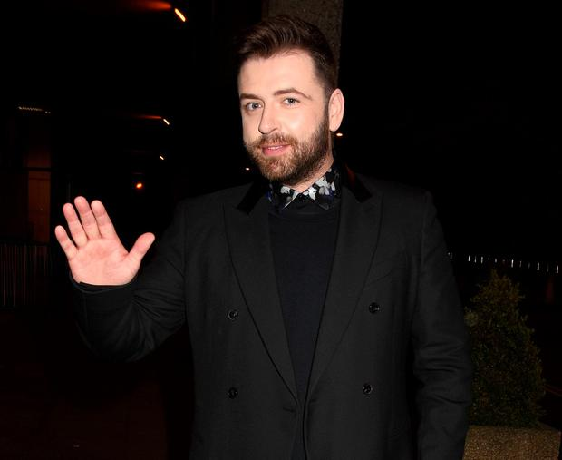 Mark Feehily arrives at The Saturday Night Show, RTE