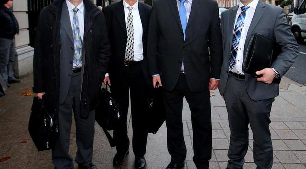 Representatives of the IABA and Sport Ireland at Transport Committee. Pictured Irish Amateur Boxing Association (LtoR) Sport Ireland Mr. Kieran Mulvey Chairperson (Designate), Sport Ireland, Mr. John Treacy Chief Executive, Sport Ireland Mr. Bernard Allen Chairperson of the NGB Grants Committee, Irish Sports Council, (Board member of Sport Ireland), Mr. Liam Sheedy Chairperson of the High Performance Committee, Irish Sports Council (Board member of Sport Ireland) at the Transport Committee in Leinster House. Photo: Sam Boal/ Rollingnews.ie