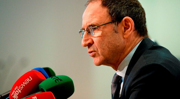 Republic of Ireland manager Martin O'Neill during a squad announcement.