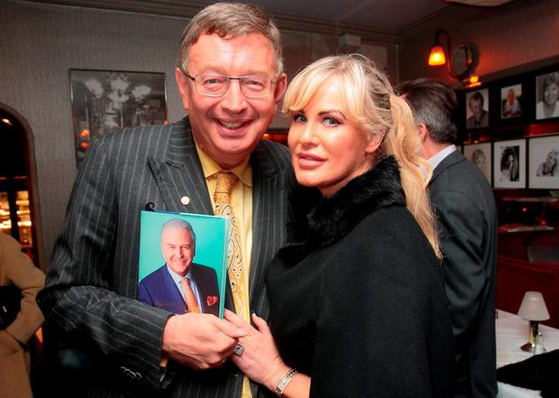 Gerald Kean & Lisa Murphy during the launch of Marty Whelan's memoir