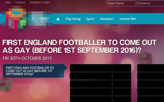 An online bookmakers' offer for punters to bet on which players might come out as gay was tawdry in the extreme