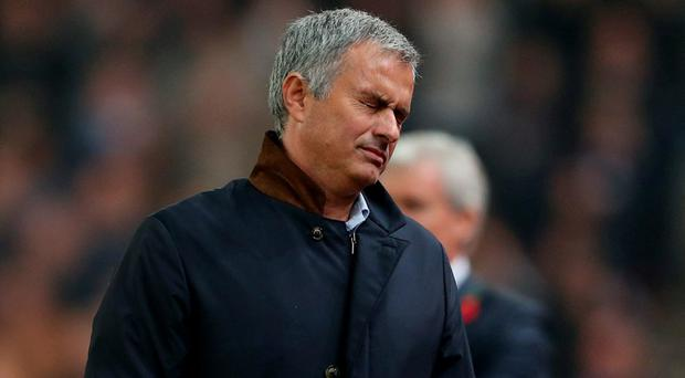 Chelsea manager Jose Mourinho looks dejected during last night's defeat to Stoke Action Images via Reuters / Alex Morton