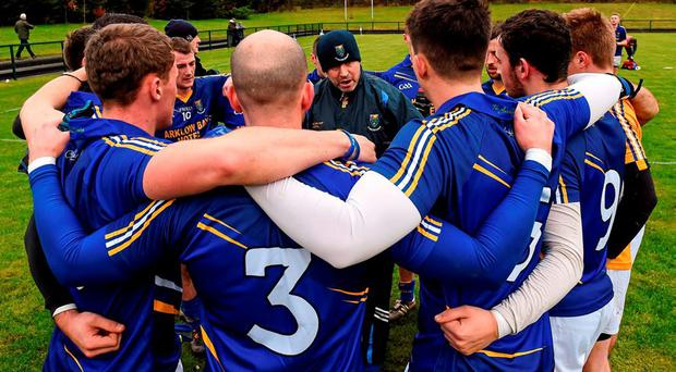 Johnny Magee, giving a pep-talk to his Wicklow team this year, says more must be done to close the gap between the big guns and the minnows