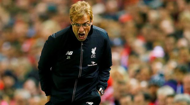 Liverpool manager Juergen Klopp reacts during the game Reuters / Eddie Keogh Livepic