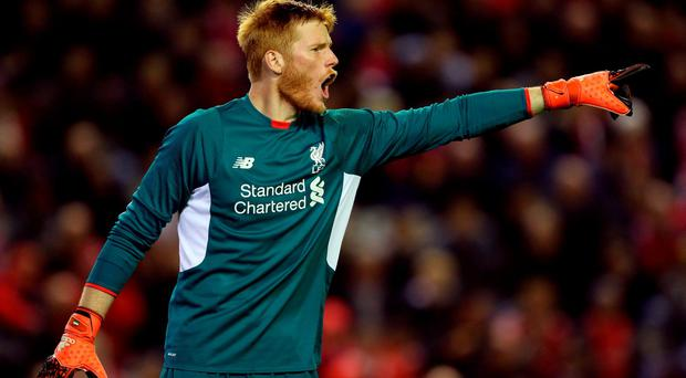 Liverpool goalkeeper Adam Bogdan in action during the Capital One Cup, Fourth Round match at Anfield, Liverpool. PRESS ASSOCIATION Photo. Picture date: Wednesday October 28, 2015. See PA story SOCCER Liverpool. Photo credit should read: Richard Sellers/PA Wire. RESTRICTIONS: EDITORIAL USE ONLY No use with unauthorised audio, video, data, fixture lists, club/league logos or