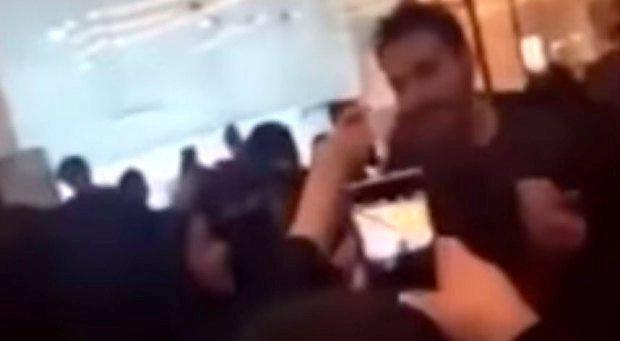 Abdul Aziz Al Kassarwas visiting Saudi Arabia for work when he was mobbed by a group of adoring female fans wanting to take selfies with him Photo: YouTube
