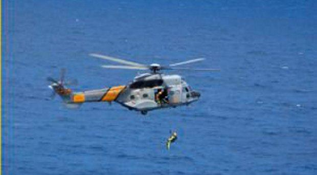 An archive image of a Spanish Maritime Search and Rescue helicopter