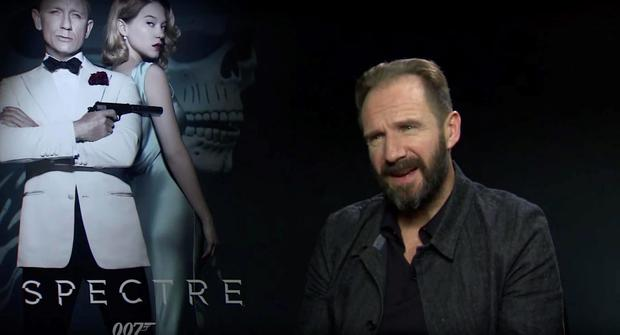 Ralph Fiennes during junket interview for Spectre