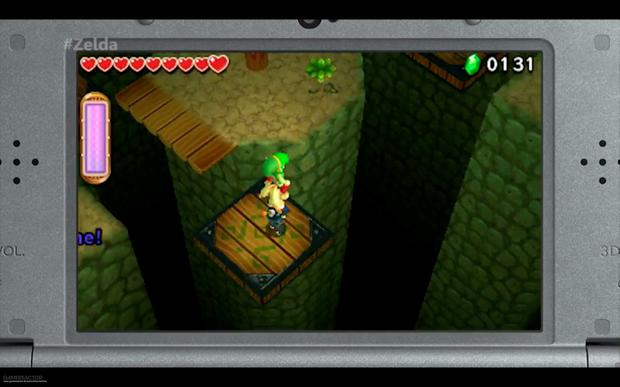 Legend of Zelda Triforce Heroes: Carry each other in a stack to reach higher places