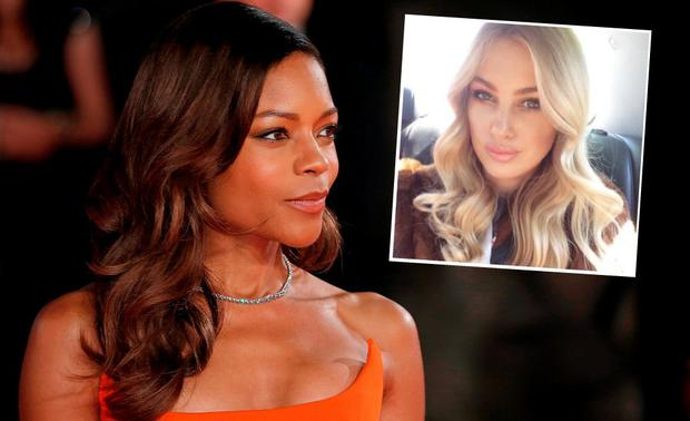 Naomie Harris at the Spectre premiere (inset) is Jennifer Lil Buckley
