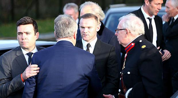 Wayne Rooney among the mourners at Howard Kendall's funeral today