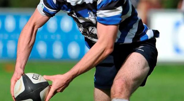 Greg Faherty in action for Ulster Bank League side Corinthians