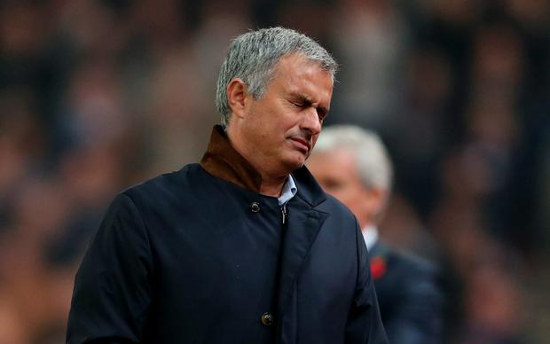 Chelsea manager Jose Mourinho is feeling the heat at Stamford Bridge