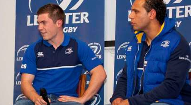 Isa Nacewa and Luke McGrath answer the questions at a Q&A for the OLSC