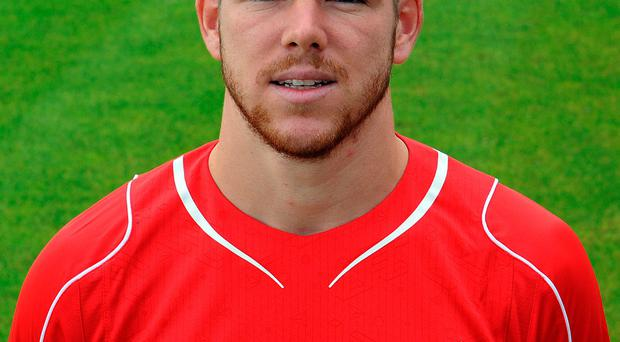 LIVERPOOL, ENGLAND - AUGUST 21: (THE SUN OUT. THE SUN ON SUNDAY OUT.) Alberto Moreno of Liverpool during a Team Portrait session on August 21, 2014 in Liverpool, England. (Photo by Andrew Powell/Liverpool FC via Getty Images)