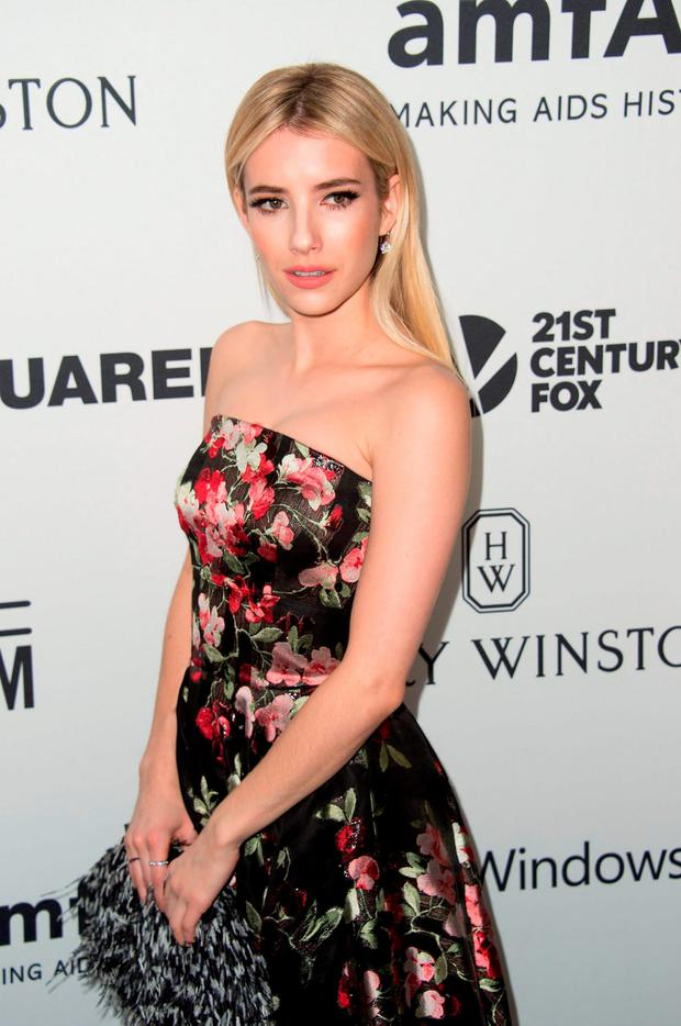 Actress Emma Roberts attends the amfAR's Inspiration Gala Los Angeles
