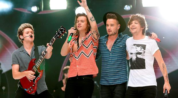 Niall Horan, Harry Styles, Liam Payne and Louis Tomlinson of One Direction. Photo: Yui Mok/PA Wire