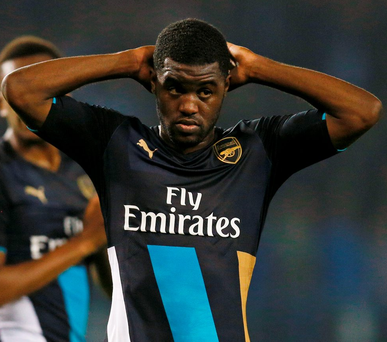 Joel Campbell sums up the frustration of Arsenal's players after their defeat to Sheffield Wednesday in the League Cup earlier this week