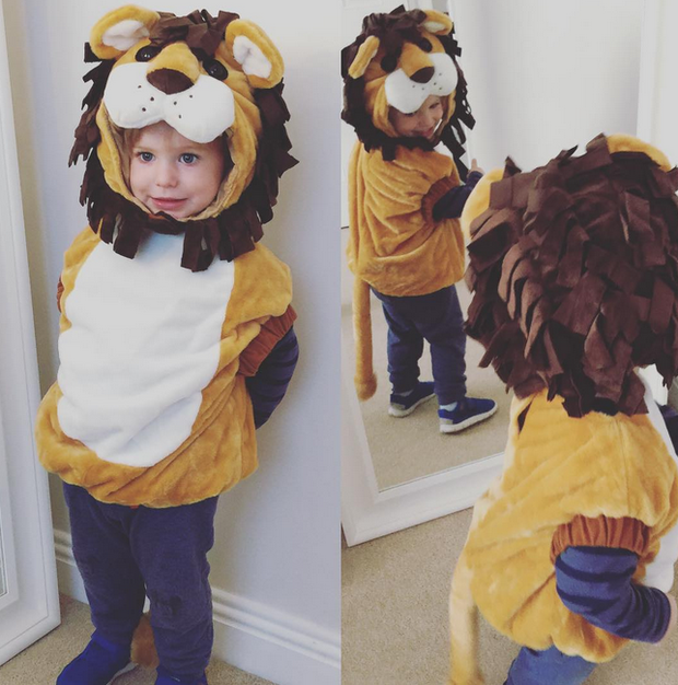 Pippa O'Connor's son Ollie (2) on Halloween.