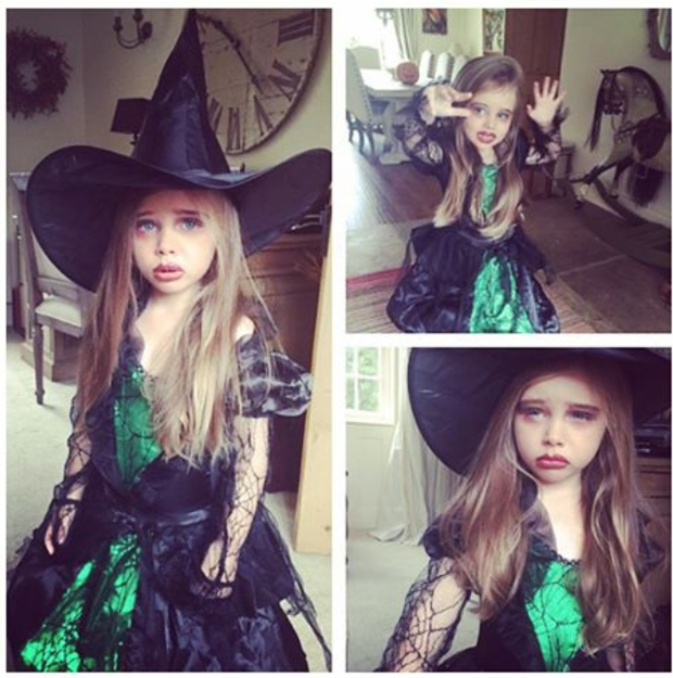 Una Foden's daughter Aoife Belle dresses up for Halloween