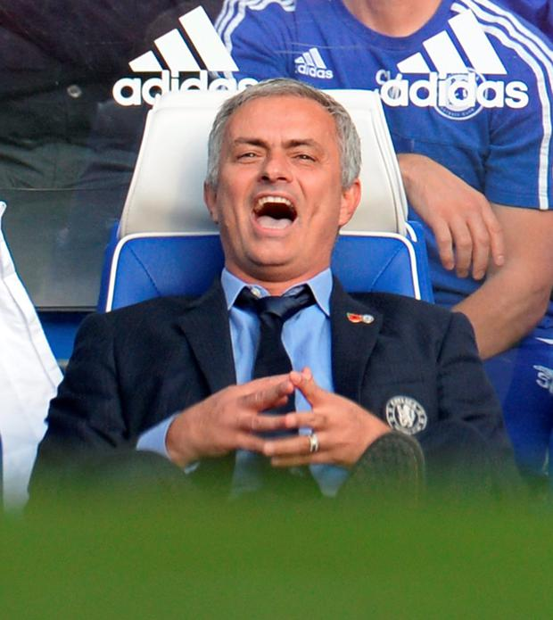 Chelsea manager Jose Mourinho reacts Reuters / Philip Brown Livepic